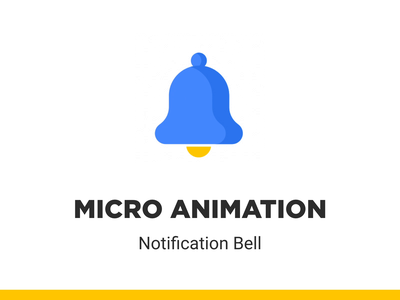Micro Animation - Notification Bell bell animation motion graphics motion design after effects lottie icon animation leaderboard ui design user experience ui interaction ui animation micro interaction microanimation notification