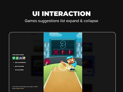 Game List Interaction item list web design interaction logic list ui ui animation ux design interaction design ui design ui interaction