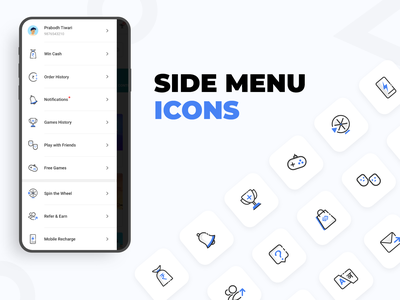 Side Menu Icons side menu icons icons pack sidebar ui design side panel iconography icon set icon design side menu