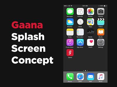 Gaana Splash Screen Concept micro interaction ux design interaction design app design ui design music player music app gaana ui interaction ui animation splash screen