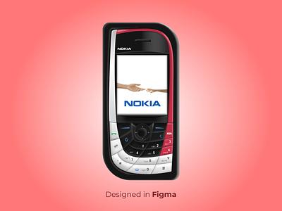 Skeuomorphic Nokia 7610 3d realism nokia mobile figma figma illustration 3d 3d illustration nokia mobile skeuomorphic illustration skeuomorphic