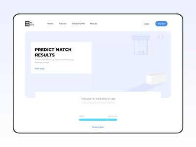 Cricket Prediction Landing Page Concept