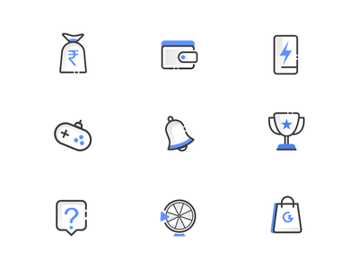 Icons for Gamezop app design minimalist illustrations ui icons logo illustrations icons pack icon iconography icons design iconset icons