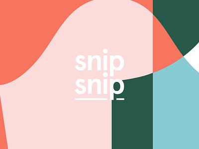 Snip-snip-snip. pattern design pattern vector logo branding design branding