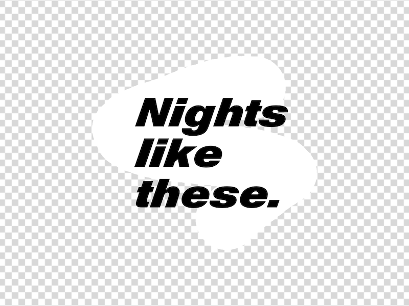 Nights like these thedailytype art lettering typography design