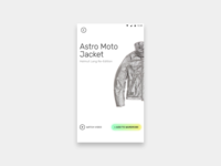 An app in the making. apparel catalogue app design splash animated animation branding logo identity