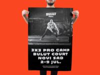 Poster design sports basketball basket 3x3 poster logo branding