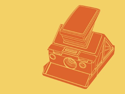 Polaroid SX-70 polaroid sx-70 illustration vector camera vintage