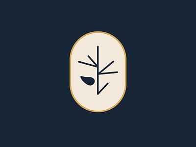 Branch Pinecone color icon design logo