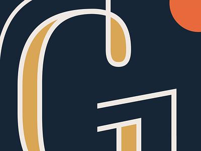 G Close Up color typography design logo