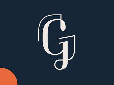 G modified type icon typography design logo