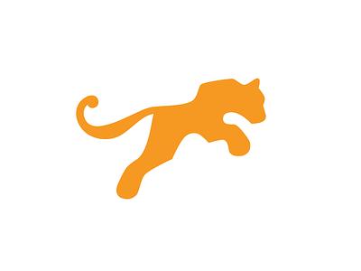 Pounce pounce jump tiger animal icon color design logo
