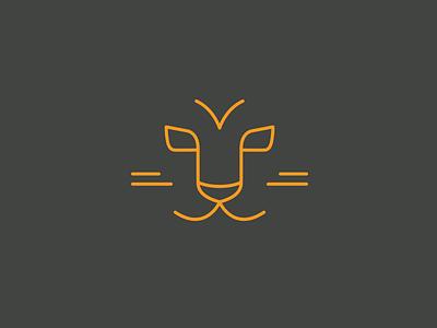 Tiger Face monoline tiger animal animal face icon logo