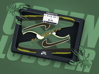 nike sb_Green Lobster  painting