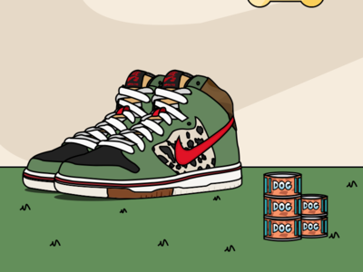 "Sneaker_ Dunk SB  ""Dog Walker"""