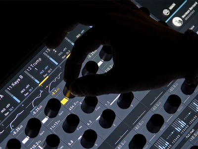 Show Mode Detail – Thesis #3 haptic hybrid setup music mixing mixing console context-sensitive thesis hfg