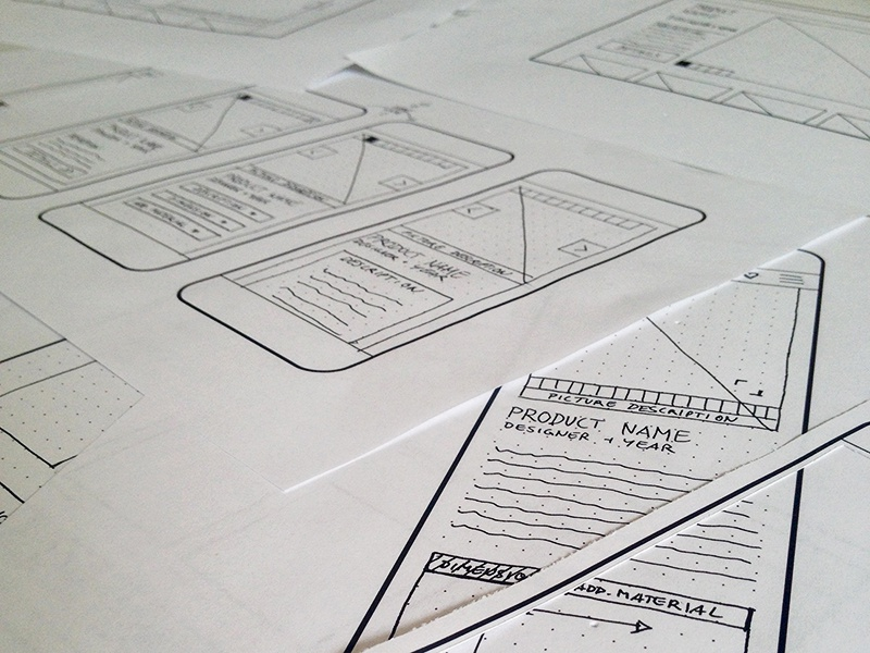 Quick and dirty Wireframes are fun! grid layout sketch flow paper pen quick and dirty hand sketched wireframing wireframe