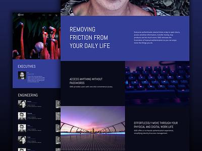 Website sprints are fun! blue fun dark full-width security minisite startup responsive web website application