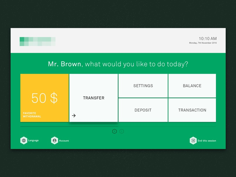 Atm Interface By Fritz Frizzante Dribbble Dribbble