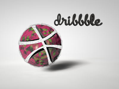 first shot. dribbble rendering