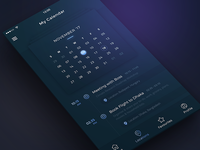 Conceptual Calendar App UI