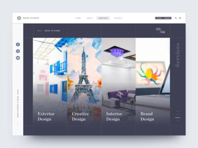 Conceptual Service Web Page web landing page trendy modern best shot conceptual website web page page service