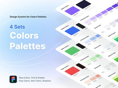 4 Sets Colors Palettes design
