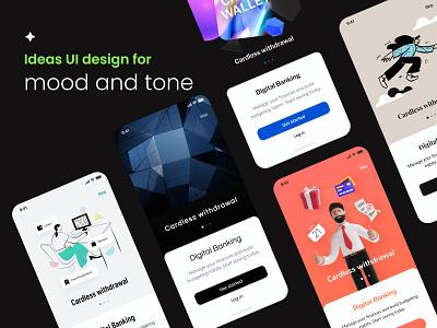 Mood tone   Dribbble ux branding typography mobile illustration app ui figmadesign minimal clean design