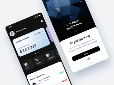 App Digital Banking ui branding logo app mobile icon clean illustration minimal design