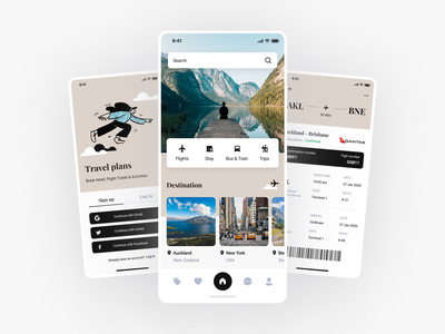 Hello everyone, I created a plans for a travel app. branding logo illustration design minimal ui mobile app clean
