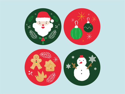 Christmas character vector icon flat clean minimal illustration design