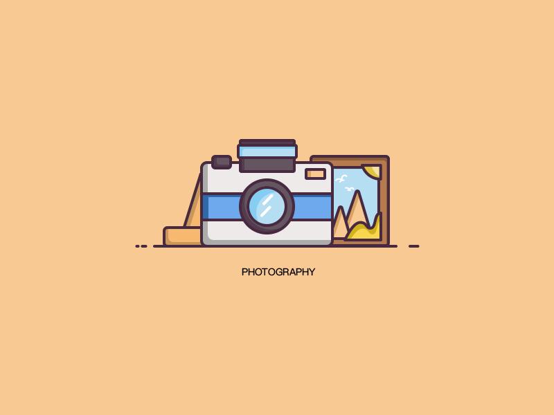 Photography ui illustration