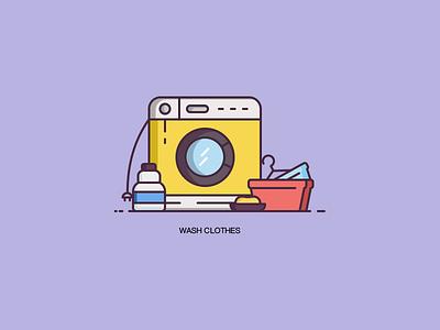 Washclothes illustration ui