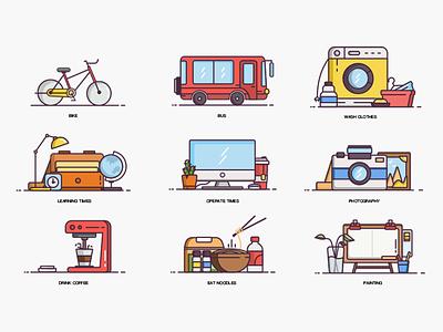 Icon illustration design ui