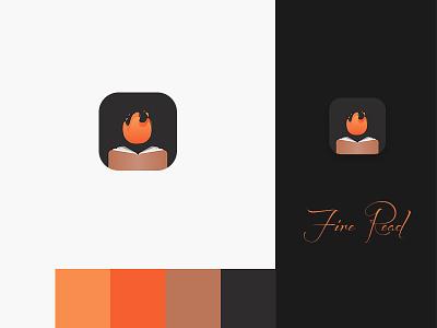 fire read logo app design ui