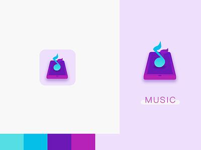 music logo app ui
