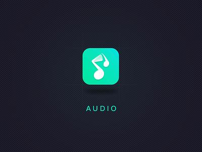 audio app logo design ui