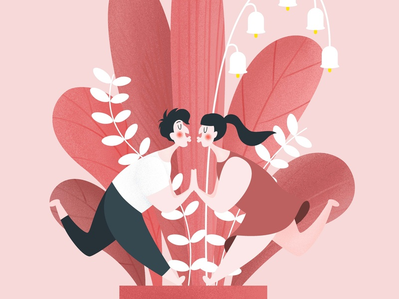 lover plant affection valentines day love lover design drawing