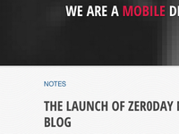 Zer0day Notes, my company's new blog
