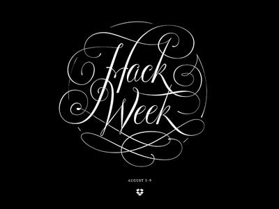 Dropbox Hack Week lettering