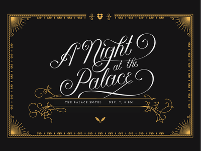 A Night at the Palace lettering illustration dropbox