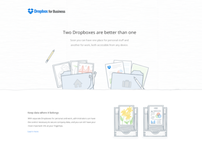 two dropboxes are better than one illustration web design dropbox