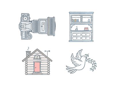 keynotin' dove cabin camera shelves illustration keynote dropbox