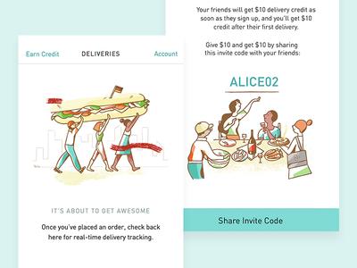 postmates, people, food, <3  sandwich postmates illustration product illustration food characters