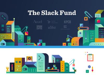 02 The Slack Fund vc api developers finance product slack illustration