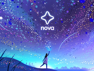 Painting the sky (Nova / Airbnb 01) character airbnb stars advertising illustration