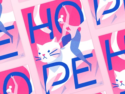 Mad kitties — Women's March poster illustration kitty character feminist protest activist poster