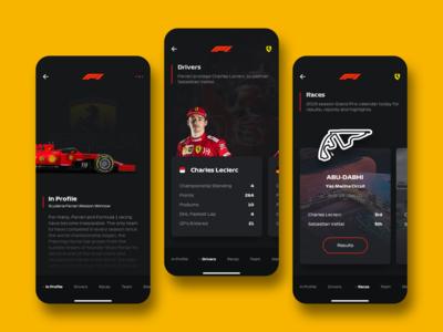 Formula 1 App Concept