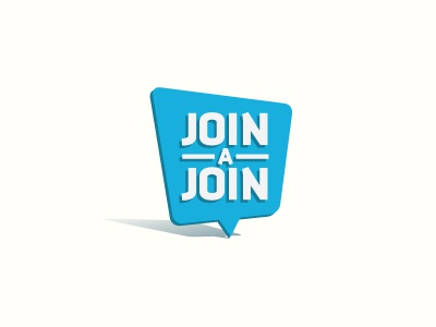 Join A Join logo logo logotype icon shape tipo blue brand design join shadyau wbd