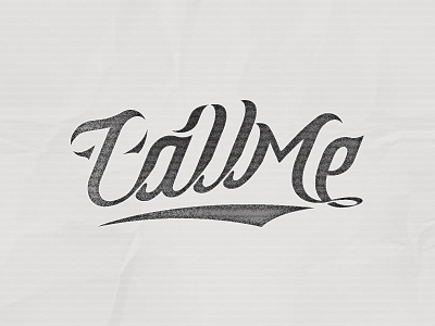 Call Me Type Treatment call me typo type treatment font typography pencil letters shadyau wbd